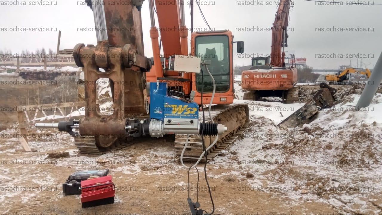 Мобильная расточка и восстановление деталей строительной технике